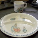 B. Potter Peter Rabbit Divided Plate and Cup - Eden & Warne