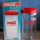 COCA COLA Coke SUGAR DISPENSER GLASS WITH METAL TOP - In Orig. Box