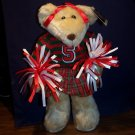 Cheerleader Bear - Plush - Red, White & Green - Great for Christmas - NEW