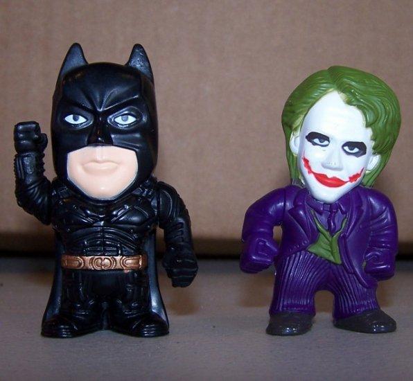 "Batman & Joker 2008 Figures DC Comic Warner Bros RARE 2.5"""