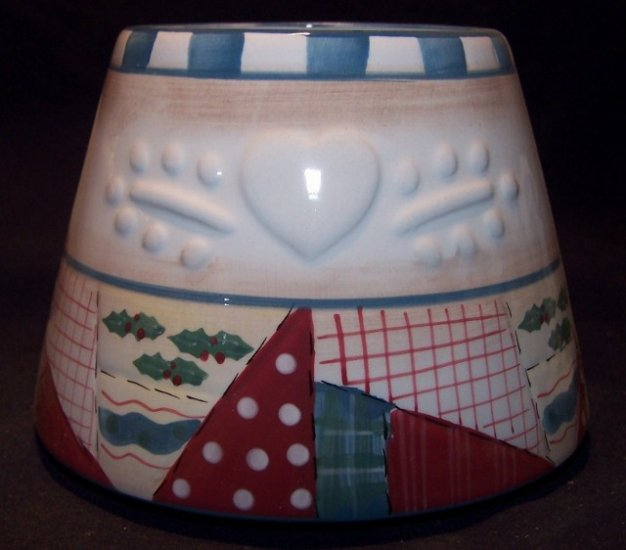 """Home Interiors """"Heartwarming Holiday"""" Candle Shade/Lamp/Topper - NEW"""