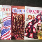 3 Annie's Crochet Newsletters No. 46, 55 and 58