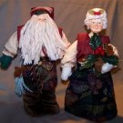 "Old World Santa & Mrs. Claus in Original Boxes - 10"" Dolls"