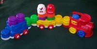 Vintage Fisher Price Stack and Play Train set