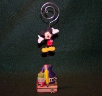 Disney Mickey Mouse Figurine Picture Holder