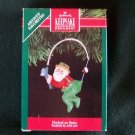 Hallmark Ornament Hooked on Santa 1991 Fishing Pole