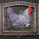 WROUGHT IRON KITCHEN RECIPE BOOK HOLDER~CHICKEN AND EGGS