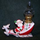 Vintage 40's Japan Santa on Sleigh Oil Lamp