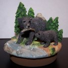 Bear and Cub Large Candle Jar Topper - NIB - Home Interiors