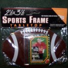 FOOTBALL Shaped - Card or Photo Frame 2.5X3.5 MCS TABLETOP SPORTS FRAME