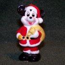 Vintage Disney MICKEY MOUSE as Santa Ceramic Christmas Ornament