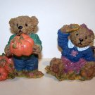 Home Interiors Fall Harvest Bear Figurines – 1999 - #99005