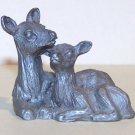 Vintage 1981 Spoontiques Pewter Deer Figurine - #192