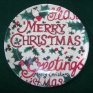 New Merry Christmas – Seasons Greetings – Santa Cookie Plate - Melamine - NEW