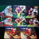 Vintage Coca Cola Santa Claus Coasters set of 8 – 2 each of 4 Different Santa Scenes Coke