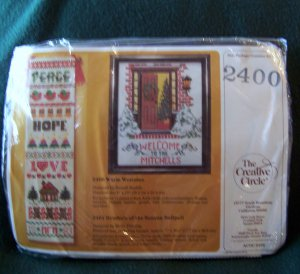 Warm Welcome Cross Stitch Kit 2400 - 1986 Creative Circle