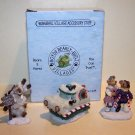 BOYDS KRINGLE'S VILLAGE SCRATCH N PATCH HOSPITAL ACCESSORY SET