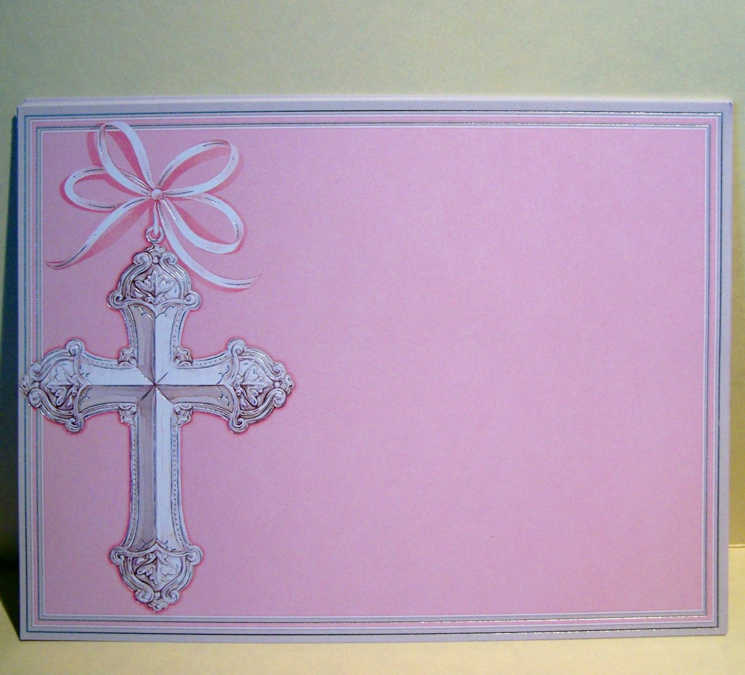 Printable First Holy Communion Invitations Envelopes A Blank Pink