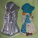 WILTON HOLLY HOBBIE CAKE PAN 502-194 WITH INSERT - EUC