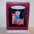 1996 Godchild Mouse Prayer Bed Hallmark Keepsake Ornament