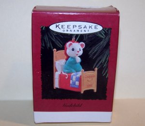 1996 Godchild Mouse Prayer Bed Hallmark Keepsake Ornament