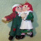 "Vintage Raggedy Ann & Andy Hanging Christmas Ornament Detailed Figurine 1998 3"" tall"