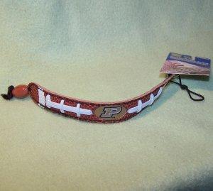 Purdue's Team Leather Football Bracelet by GameWear
