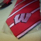 Wisconsin Badgers Striped Woven Poly Tie – Eagles Wings NEW