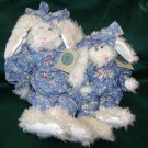 BOYDS BEARS - BUNNY RABBITS - ANASTASIA HARE & Identical Larger Bunny - Plush