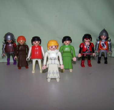 Vintage Playmobil Mixed Lot of 8 Figures - Pirates, Knights & Others