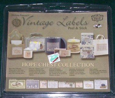 Melissa Frances Vintage Labels � Hope Chest Collection � Peel & Stick NEW