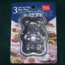 NEW Good Cook Baking Set 3 Mini Non-Stick Bear Pans NIP Cupcake CAKE Muffin Mold