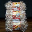 3 SKEINS COCOA CREME SAMBA EYELASH KNITTING YARN 50g - 60 yd