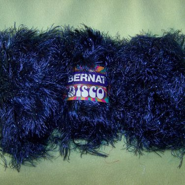 3 Skeins Bernat Disco Eyelash Bulky Yarn 68110 Boogie Blue