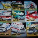 Set of 9 Childrens Story Picture Board Books Rescue Emergency Vehicles
