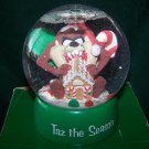 "TASMANIAN DEVIL SNOWGLOBE ""TAZ THE SEASON"" 1997 Warner Bros – In Box"
