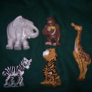 Home Interiors/Burwood Grouping of Durable Noah's Ark Animal Wall Plaques from 1995