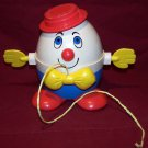 VINTAGE FISHER PRICE PULL TOY HUMPTY DUMPTY 1970's #736 Nice Shape!!!