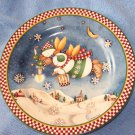 Snow People Plate - Sakura Snow Angel Village Debbie Mum
