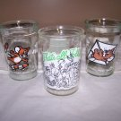 Vintage Welch's Jelly GLASSES Set of 3 – 2 Tom & Jerry & 1 Looney Tunes