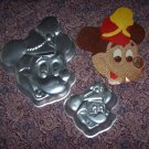 Vintage Wilton Disney Mickey Mouse Band Leader Cake Pans Large & Small Pans