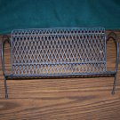 Vintage Mid Century Modern Book Stand Holder Rack CD Records Full Black Metal Mesh Art Retro