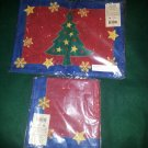 4 Christmas Placemats and Matching Napkins – 100% Cotton FREE SHIPPING