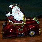 Fitz & Floyd ~ Santa In Red Convertible Car – Christmas Ornament