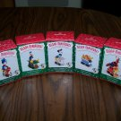 New Hallmark Merry Miniatures Set Of 5 Mickey Express Disney Train 1998