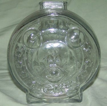 Anchor Hocking Walt Disney Company Mickey / Minnie Mouse Minnie Mouse Clear Glass Bank