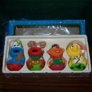VTG 1990'S Kurt S. Adler Sesame Street Christmas Ornament SET BIG BIRD