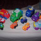 Lot of 10 TONKA CHUCK & Friends & Playskool Soft Vehicles