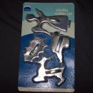 MIRRO Vintage 4 Popular Holiday Designs Aluminum Cookie Cutter Set ~ In Original Package!