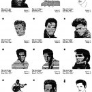 ELVIS PRESLEY 1 - 12 EMBROIDERY DESIGNS